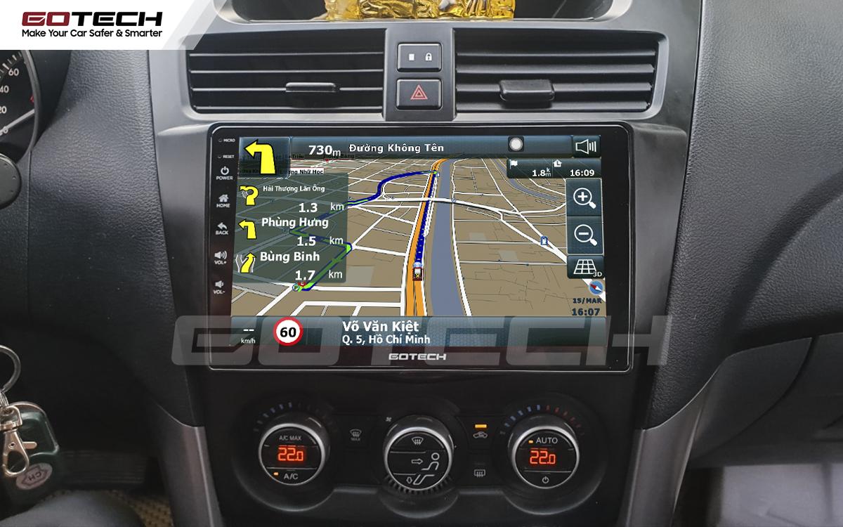 Tích hợp các bản đồ dẫn đường thông minh và thao tác dễ dàng cho xe Mazda BT50 2012-2018