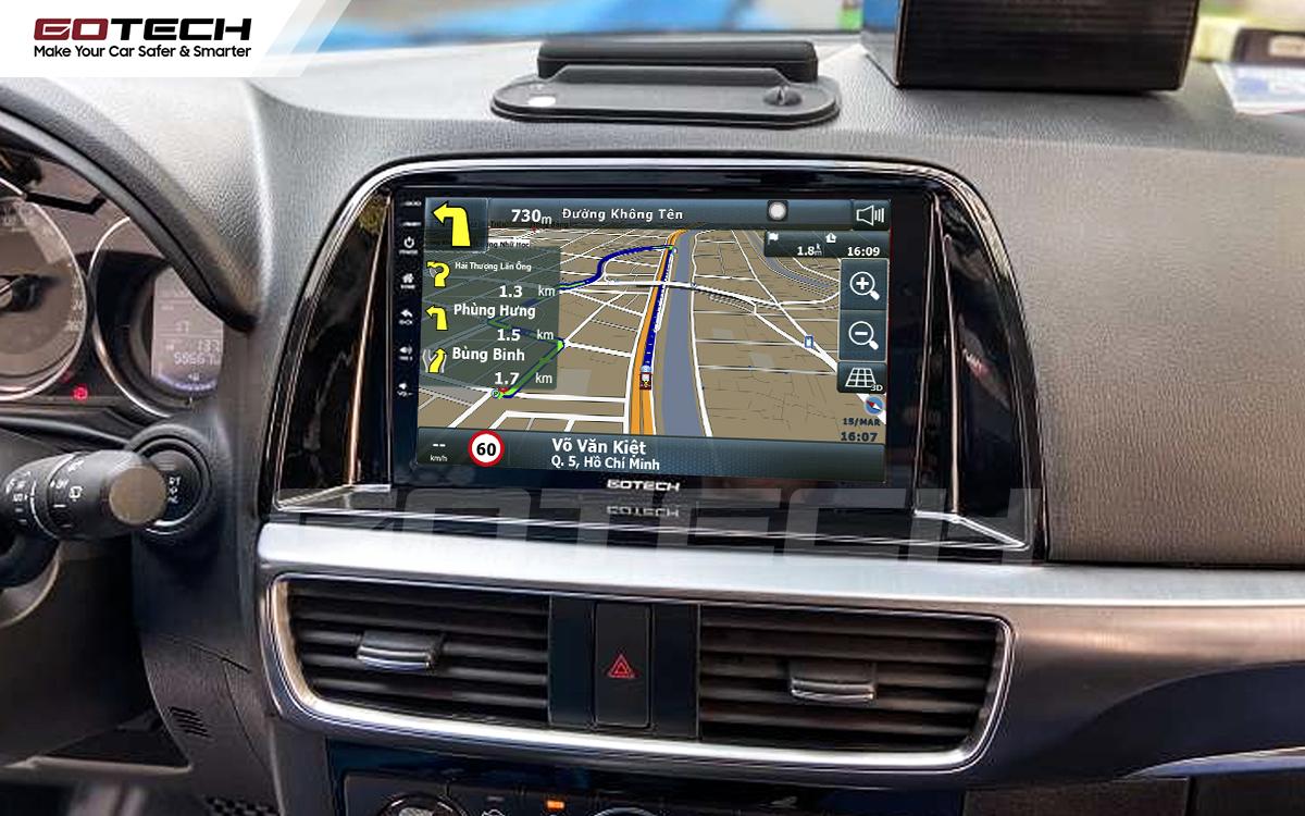 Tích hợp các bản đồ dẫn đường thông minh và thao tác dễ dàng cho xe Mazda Cx5 2016-2017