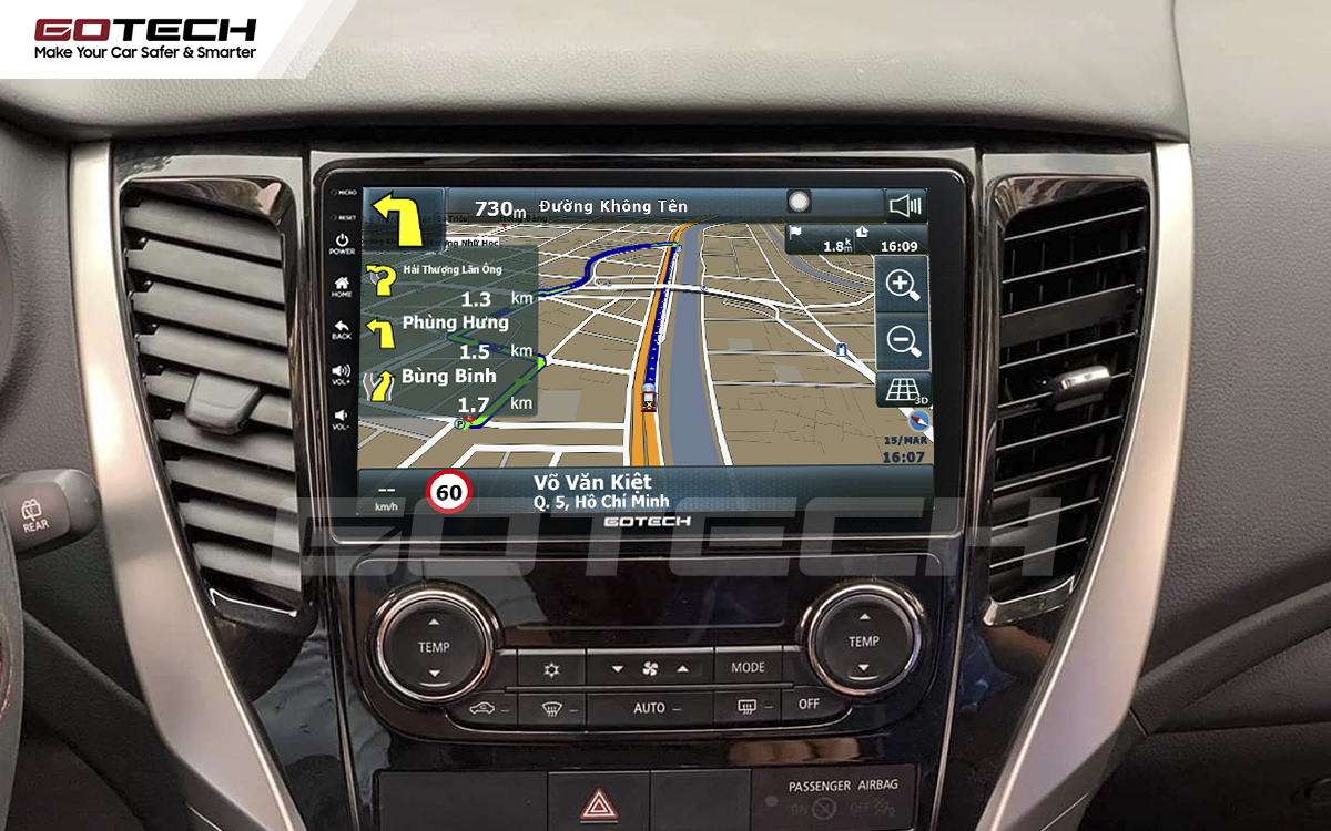 Tích hợp các bản đồ dẫn đường thông minh và thao tác dễ dàng cho xe Mitsubishi Pajero Sport 2018-2019