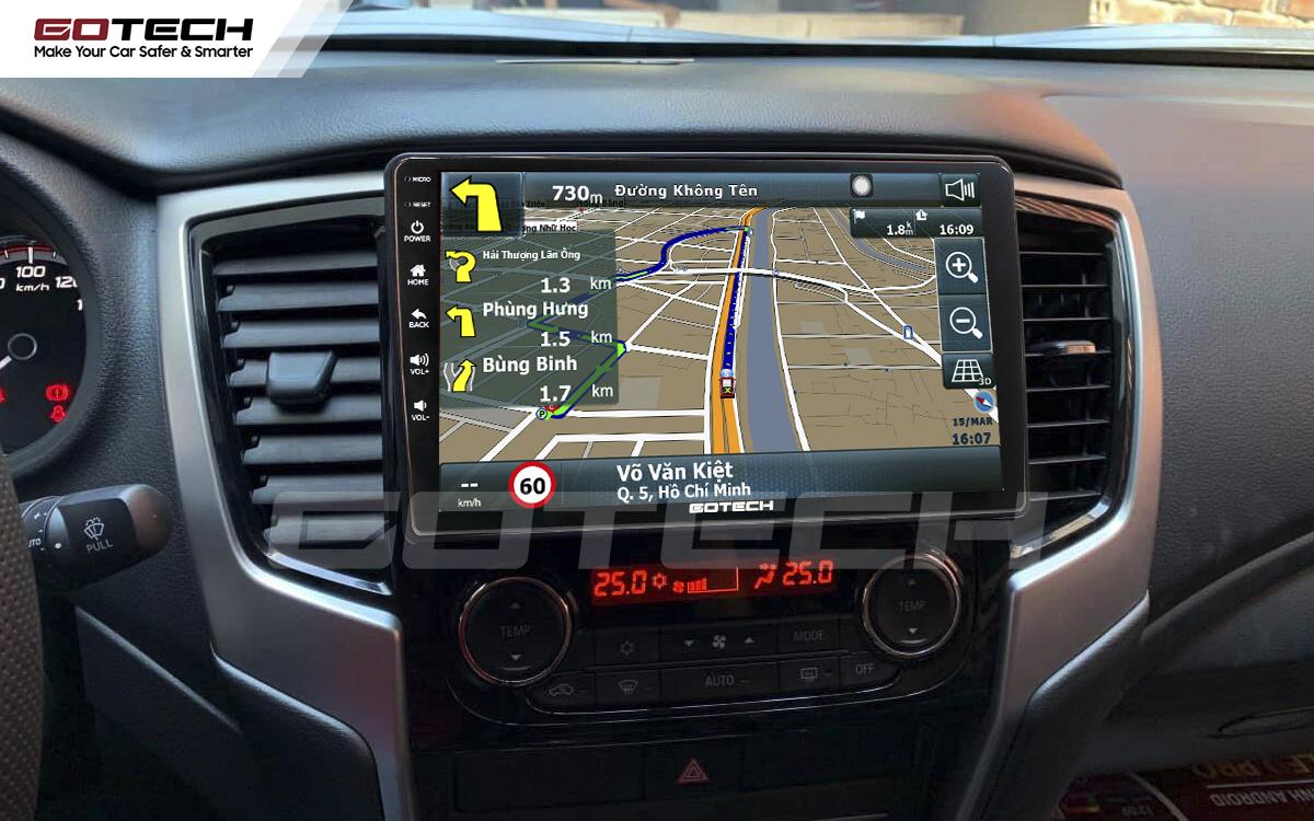 Tích hợp các bản đồ dẫn đường thông minh và thao tác dễ dàng cho xe Mitsubishi Triton 2019-2020