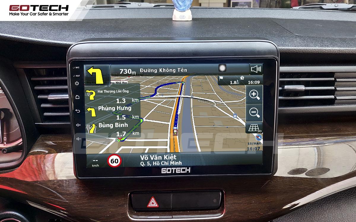Tích hợp các bản đồ dẫn đường thông minh và thao tác dễ dàng cho xe Suzuki Ertiga 2019-2020
