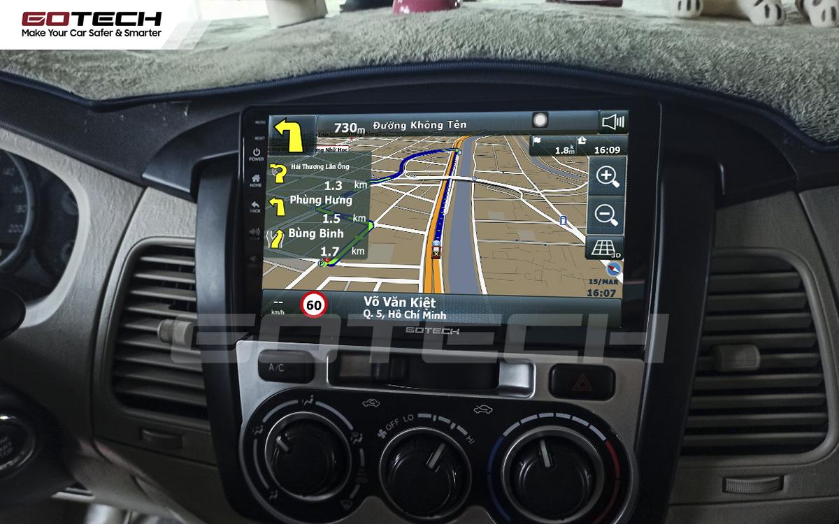Tích hợp các bản đồ dẫn đường thông minh và thao tác dễ dàng cho xe Toyota Innova 2012-2016