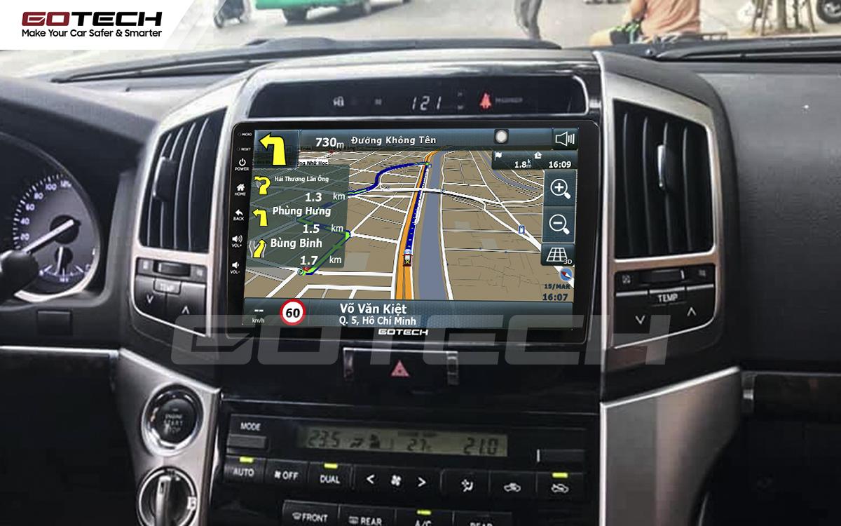 Tích hợp các bản đồ dẫn đường thông minh và thao tác dễ dàng cho xe Toyota Land Cruiser 2008-2015