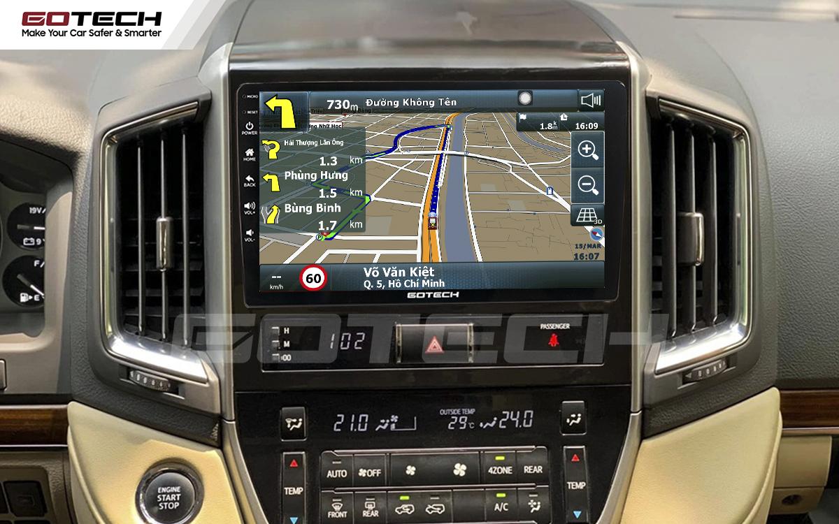 Tích hợp các bản đồ dẫn đường thông minh và thao tác dễ dàng cho xe Toyota Land Cruiser 2016-2019