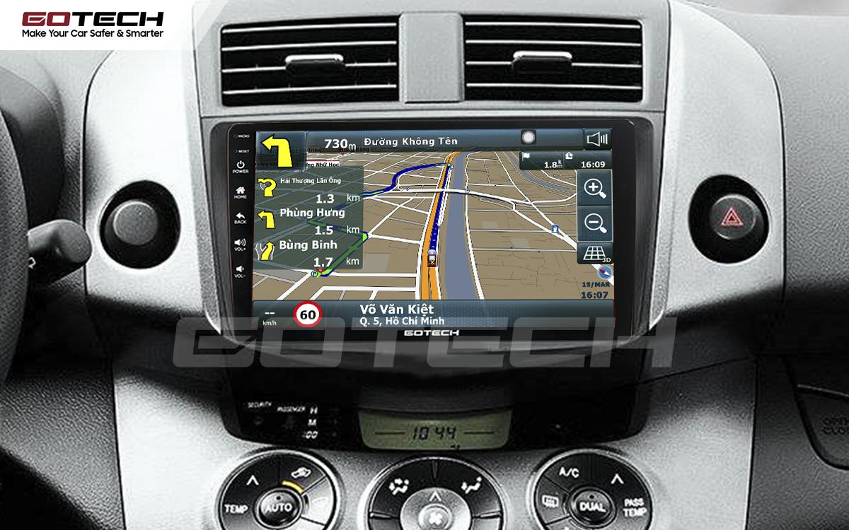 Tích hợp các bản đồ dẫn đường thông minh và thao tác dễ dàng cho xe Toyota Rav4 2006-2011