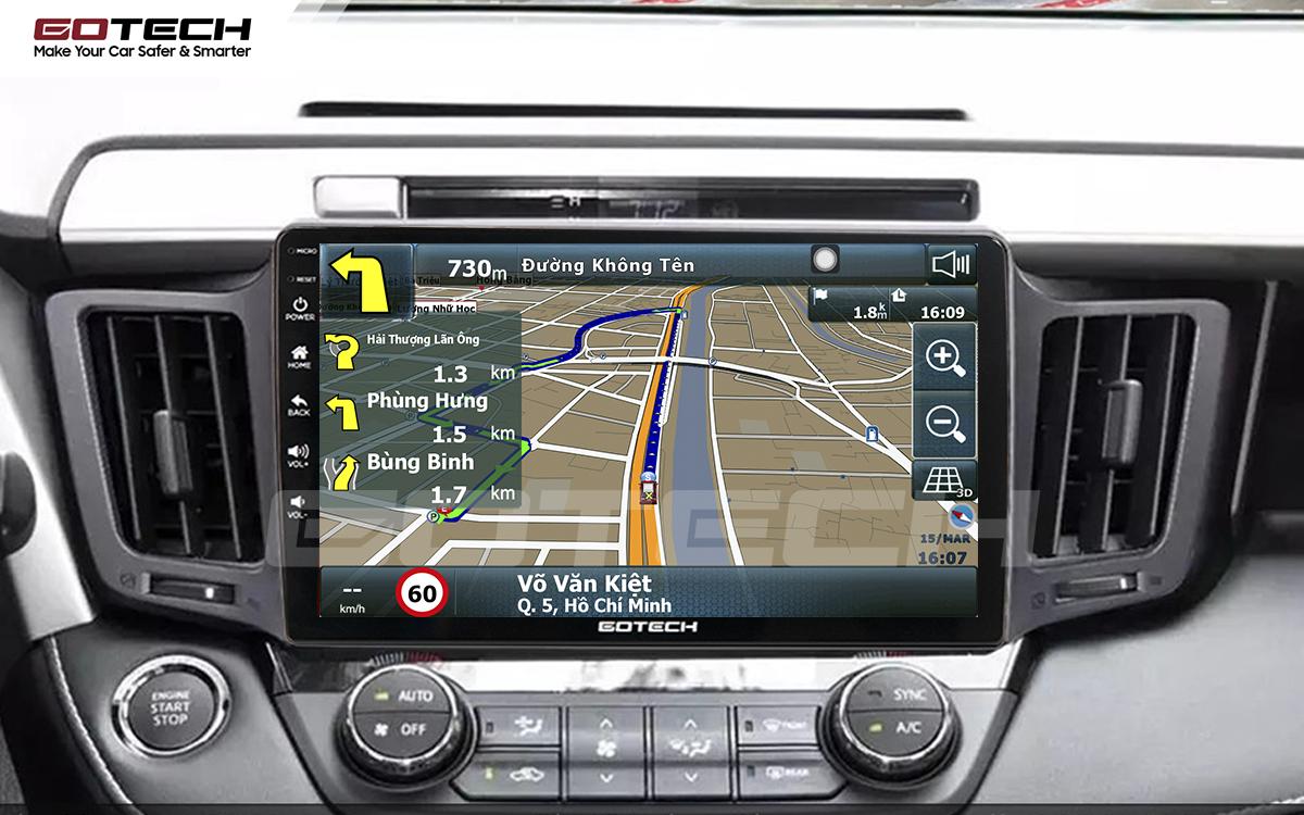 Tích hợp các bản đồ dẫn đường thông minh và thao tác dễ dàng cho xe Toyota Rav4 2013-2014