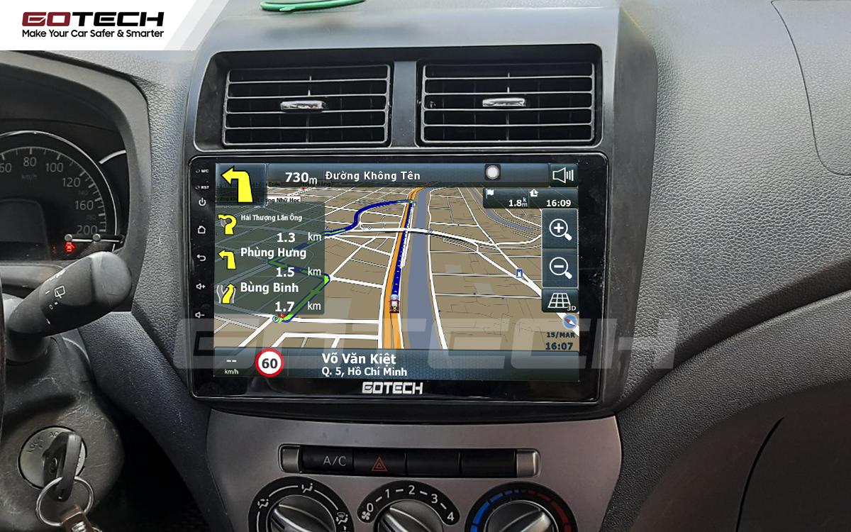 Tích hợp các bản đồ dẫn đường thông minh và thao tác dễ dàng cho xe Toyota Wigo 2018-2020