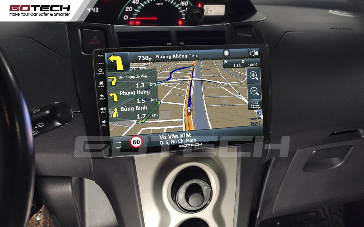 Tích hợp các bản đồ dẫn đường thông minh và thao tác dễ dàng cho xe Toyota Yaris Hatchback 2005-2013