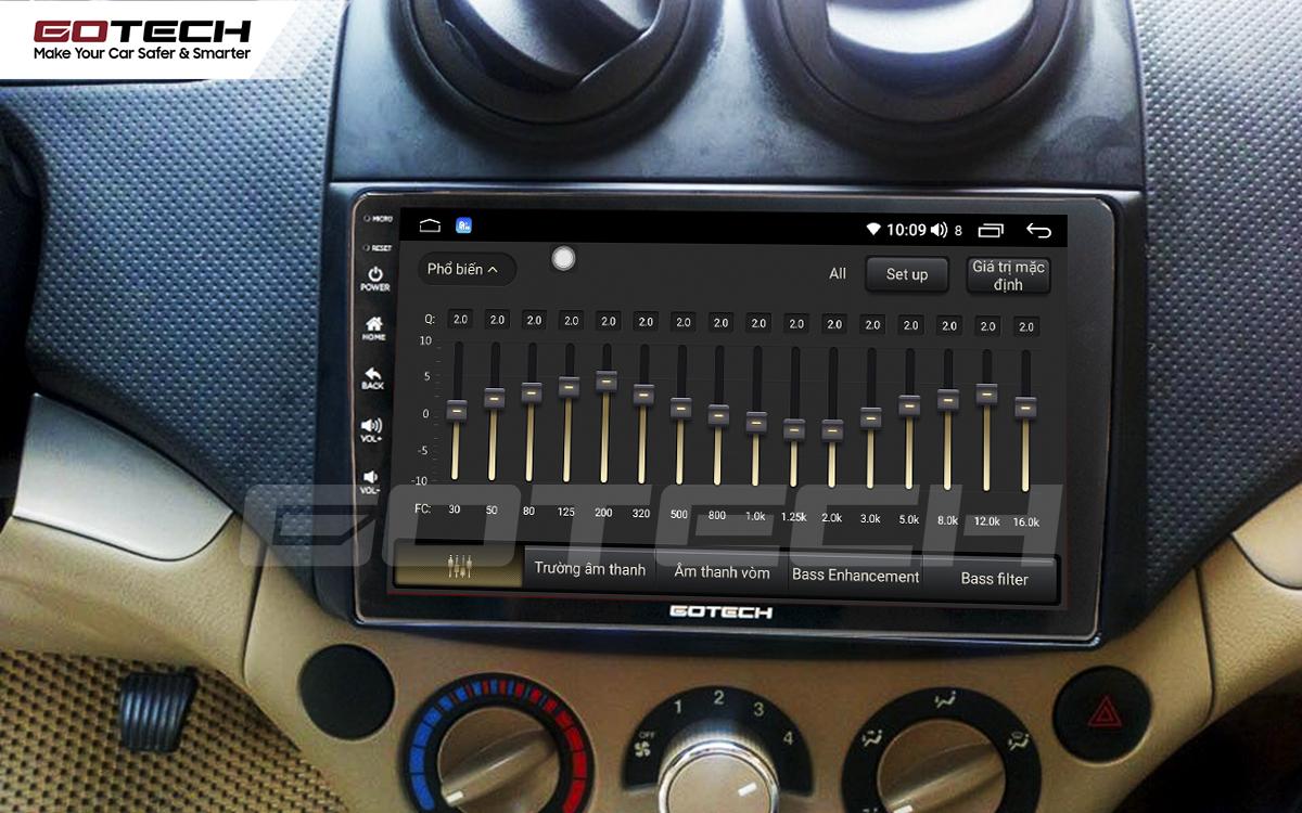 Bộ xử lý tín hiệu âm thanh DSP 32 kênh trên màn hình GOTECH cho xe Chevrolet Aveo 2011-2018