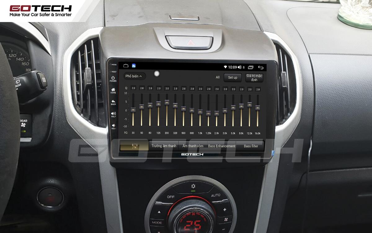 Bộ xử lý tín hiệu âm thanh DSP 32 kênh trên màn hình GOTECH cho xe Chevrolet Colorado 2015-2016