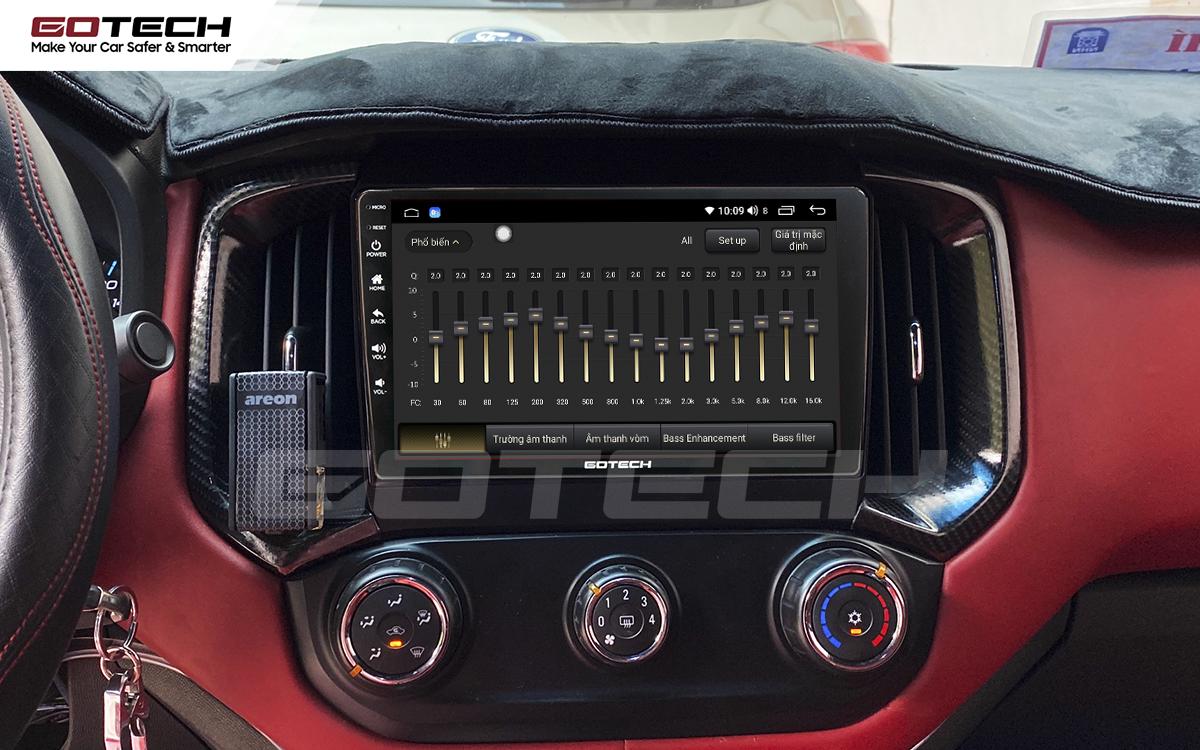 Bộ xử lý tín hiệu âm thanh DSP 32 kênh trên màn hình GOTECH cho xe Chevrolet Colorado 2017-2020