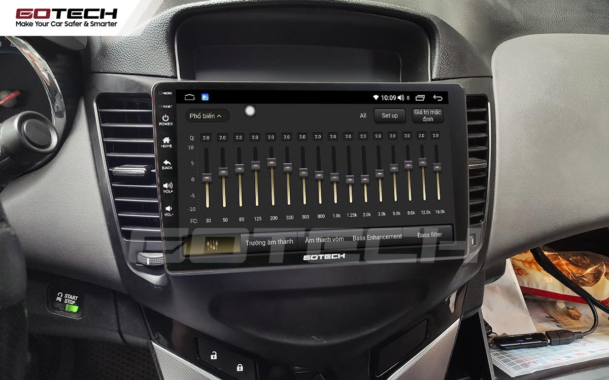 Bộ xử lý tín hiệu âm thanh DSP 32 kênh trên màn hình GOTECH cho xe Chevrolet Cruze 2009-2015