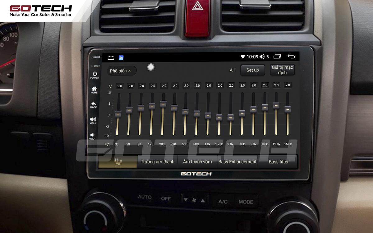 Bộ xử lý tín hiệu âm thanh DSP 32 kênh trên màn hình GOTECH cho xe Honda Crv 2007-2012