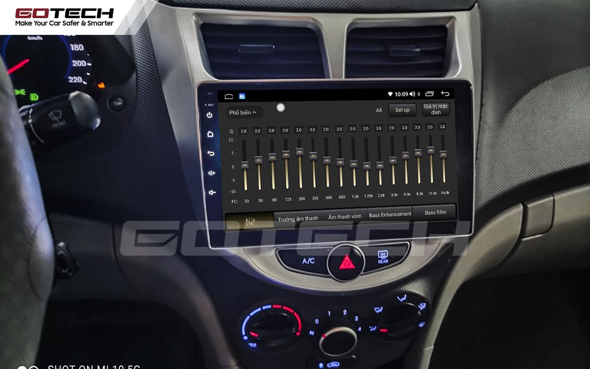 Bộ xử lý tín hiệu âm thanh DSP 32 kênh trên màn hình GOTECH cho xe Hyundai Accent 2011-2016