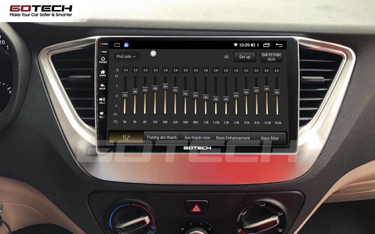 Bộ xử lý tín hiệu âm thanh DSP 32 kênh trên màn hình GOTECH cho xe Hyundai Accent 2018-2020