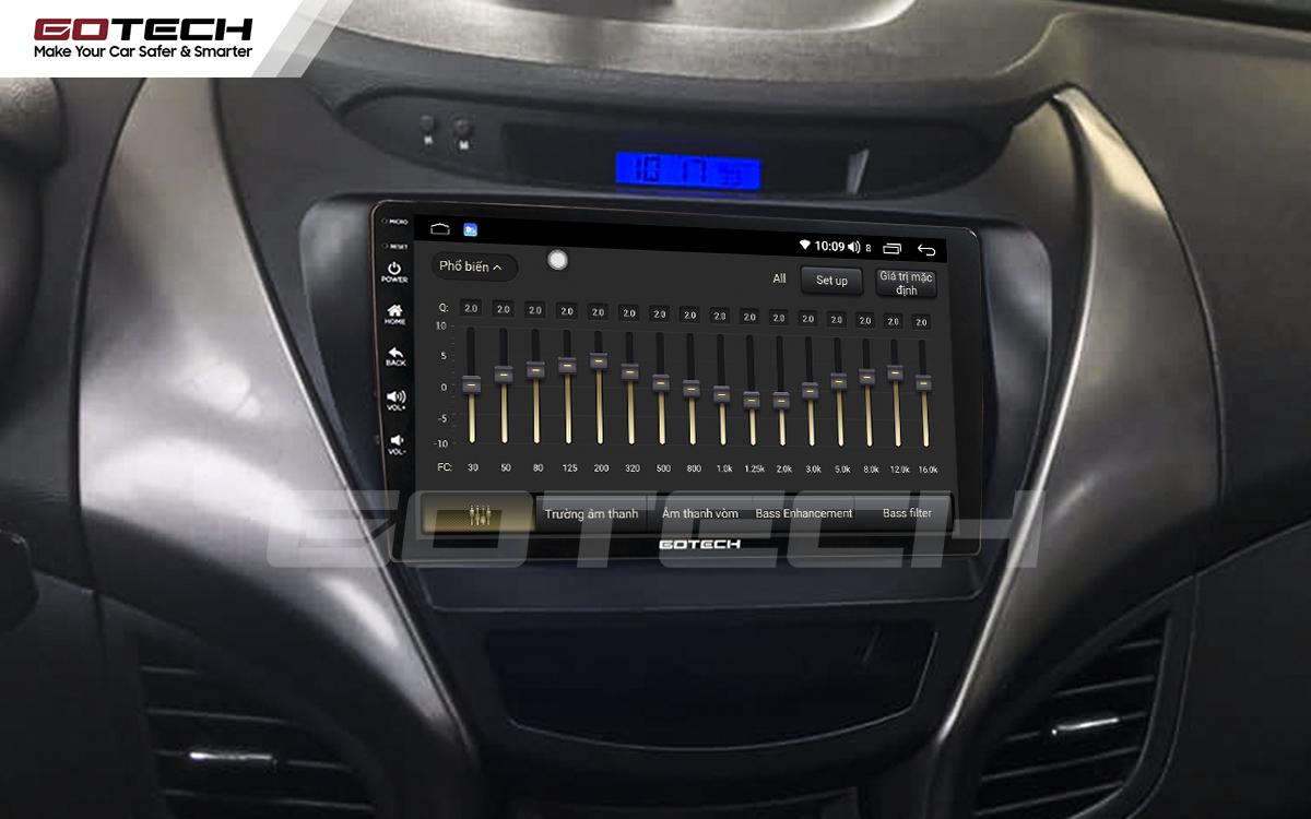 Bộ xử lý tín hiệu âm thanh DSP 32 kênh trên màn hình GOTECH cho xe Hyundai Elantra 2013-2015