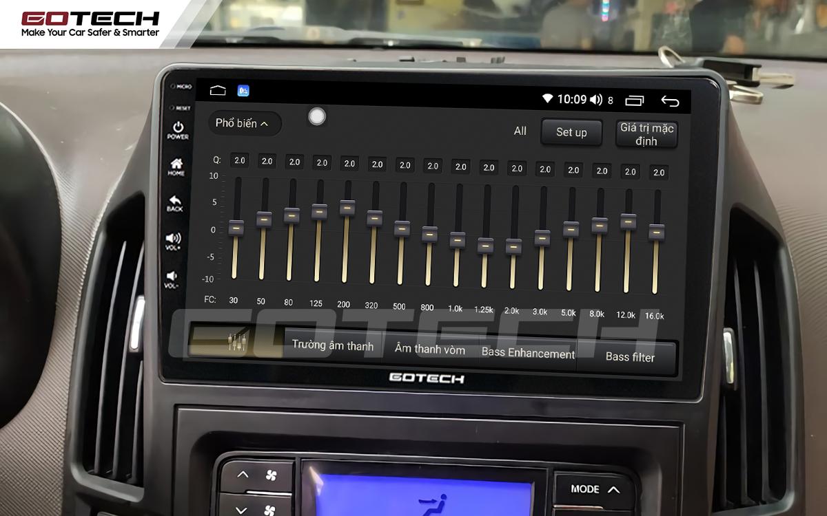 Bộ xử lý tín hiệu âm thanh DSP 32 kênh trên màn hình GOTECH cho xe Hyundai i30 2008-2013
