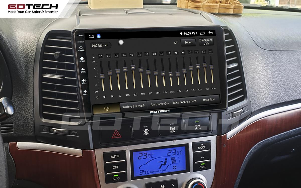 Bộ xử lý tín hiệu âm thanh DSP 32 kênh trên màn hình GOTECH cho xe Hyundai Santafe 2006-2012