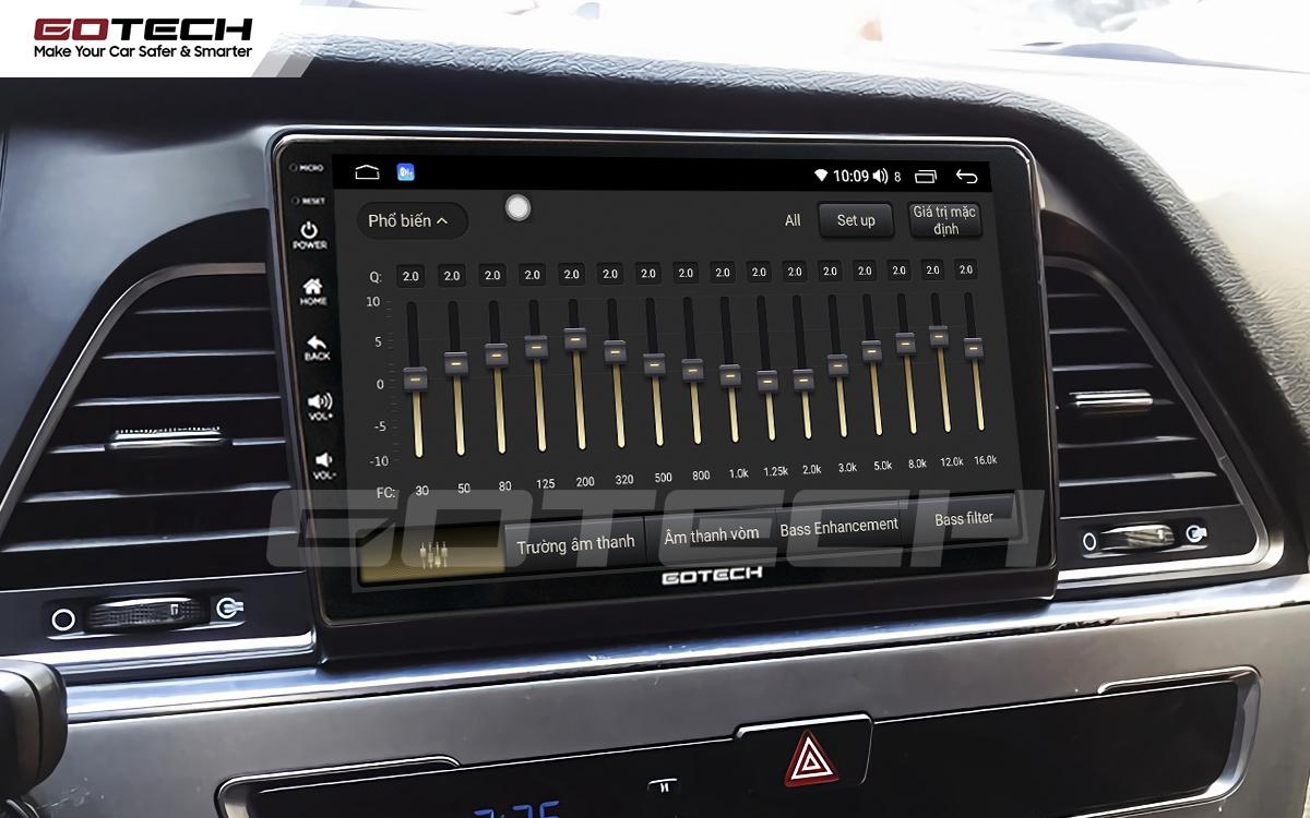 Bộ xử lý tín hiệu âm thanh DSP 32 kênh trên màn hình GOTECH cho xe Hyundai Sonata 2015-2018