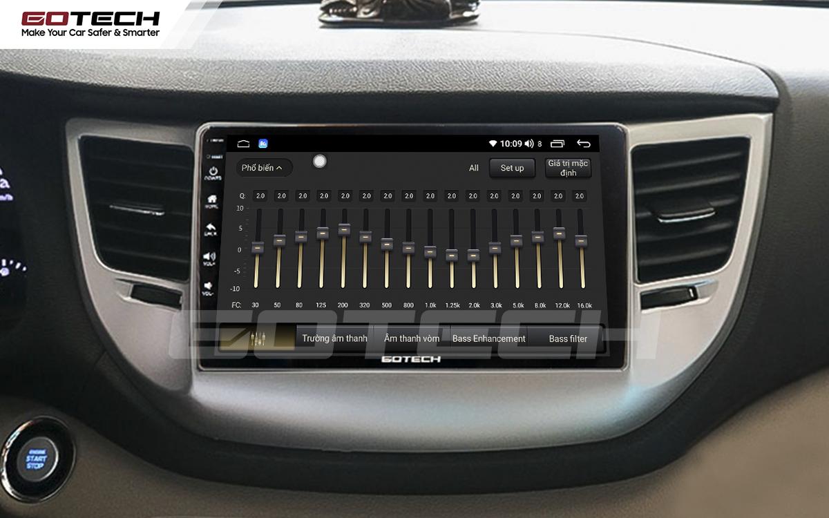 Bộ xử lý tín hiệu âm thanh DSP 32 kênh trên màn hình GOTECH cho xe Hyundai Tucson 2016-2018