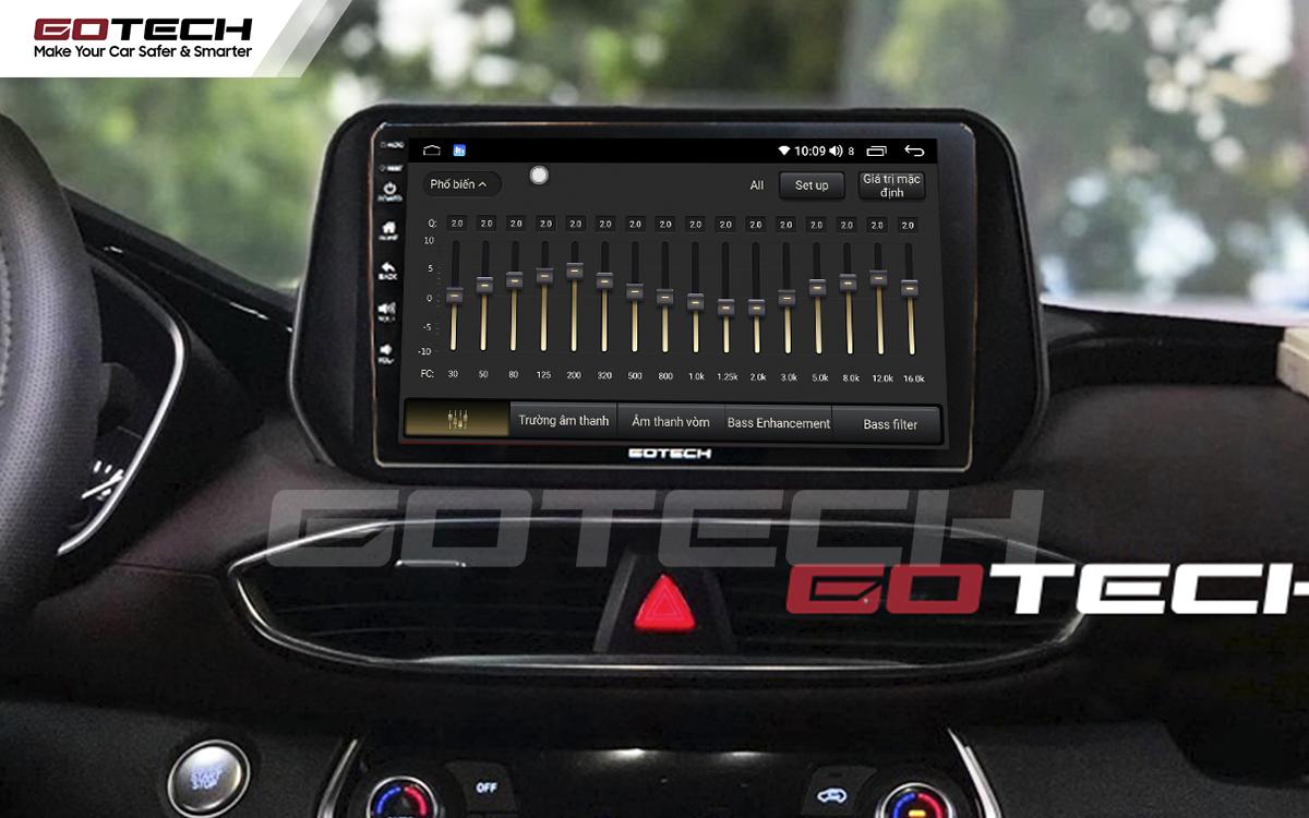 Bộ xử lý tín hiệu âm thanh DSP 32 kênh trên màn hình GOTECH cho xe Hyundai Tucson 2019-2020