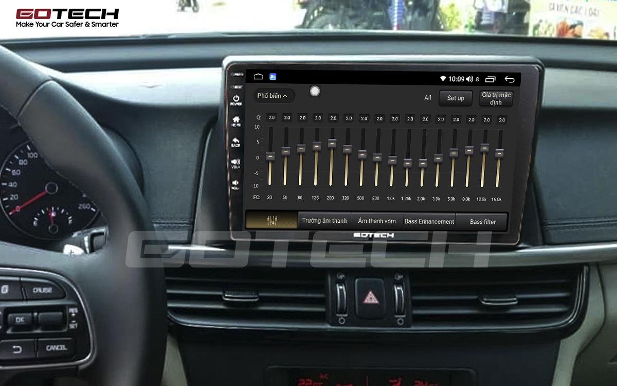 Bộ xử lý tín hiệu âm thanh DSP 32 kênh trên màn hình GOTECH cho xe Kia K5 Optima 2017-2020