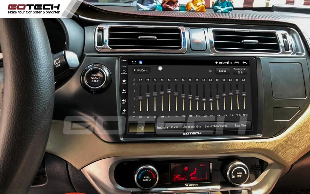 Bộ xử lý tín hiệu âm thanh DSP 32 kênh trên màn hình GOTECH cho xe Kia Rio 2012-2014
