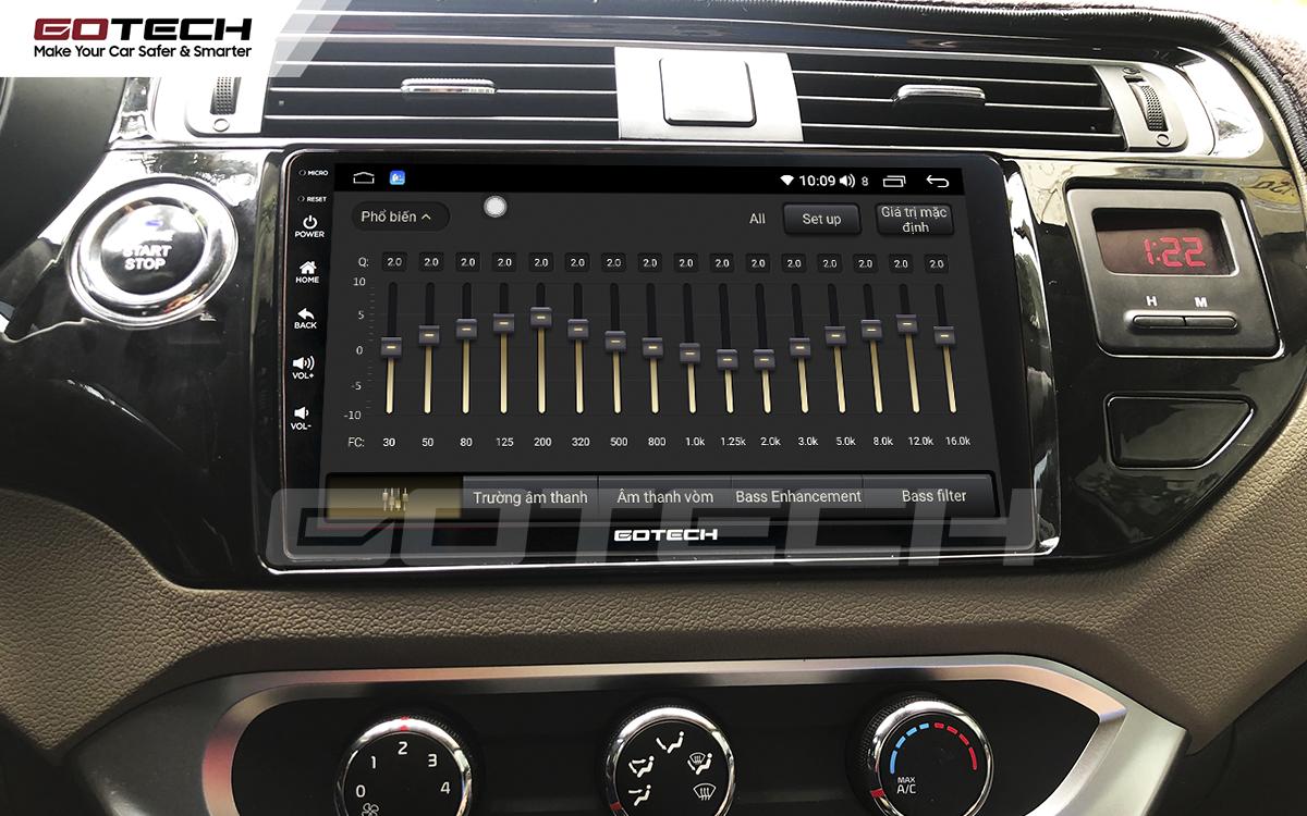 Bộ xử lý tín hiệu âm thanh DSP 32 kênh trên màn hình GOTECH cho xe Kia Rio 2016-2018