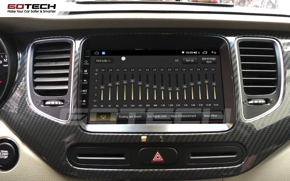 Bộ xử lý tín hiệu âm thanh DSP 32 kênh trên màn hình GOTECH cho xe Kia Rondo 2014-2020