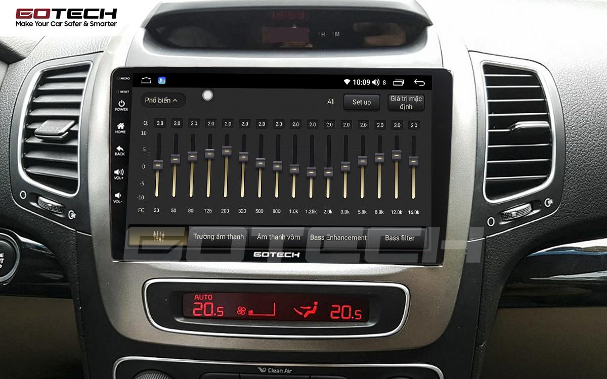 Bộ xử lý tín hiệu âm thanh DSP 32 kênh trên màn hình GOTECH cho xe Kia Sorento 2014-2020