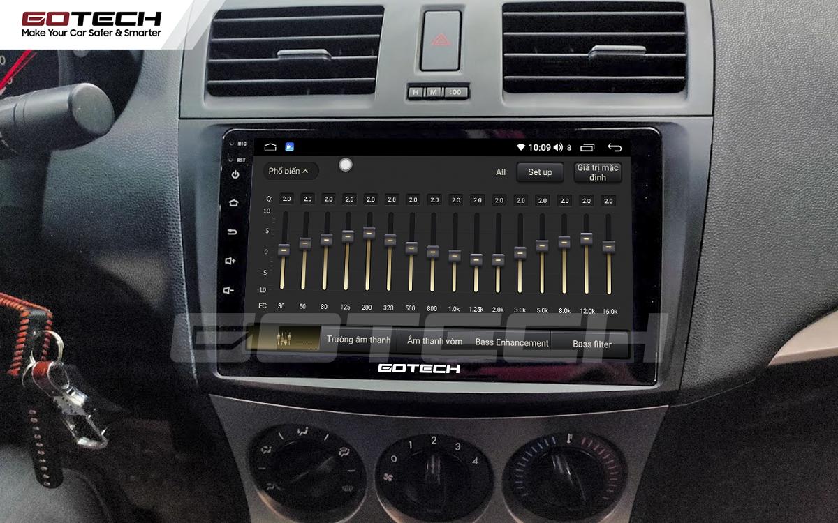 Bộ xử lý tín hiệu âm thanh DSP 32 kênh trên màn hình GOTECH cho xe Mazda 3 2010-2013