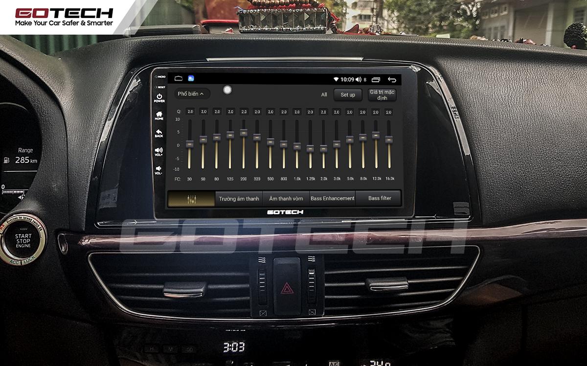 Bộ xử lý tín hiệu âm thanh DSP 32 kênh trên màn hình GOTECH cho xe Mazda 6 2014-2016