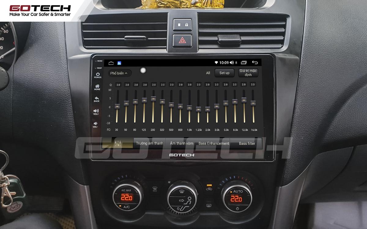Bộ xử lý tín hiệu âm thanh DSP 32 kênh trên màn hình GOTECH cho xe Mazda BT50 2012-2018