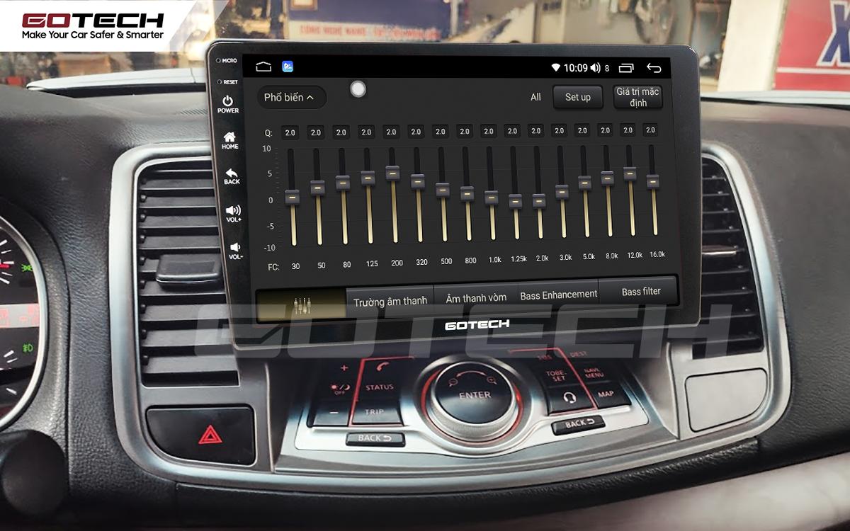 Bộ xử lý tín hiệu âm thanh DSP 32 kênh trên màn hình GOTECH cho xe Nissan Teana 2009-2011