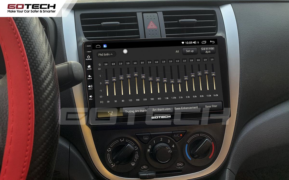 Bộ xử lý tín hiệu âm thanh DSP 32 kênh trên màn hình GOTECH cho xe Suzuki Celerio 2018-2020