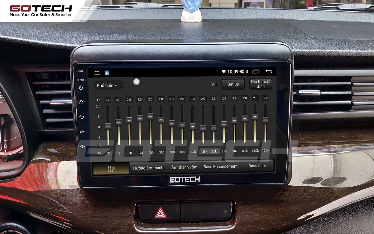 Bộ xử lý tín hiệu âm thanh DSP 32 kênh trên màn hình GOTECH cho xe Suzuki Ertiga 2019-2020