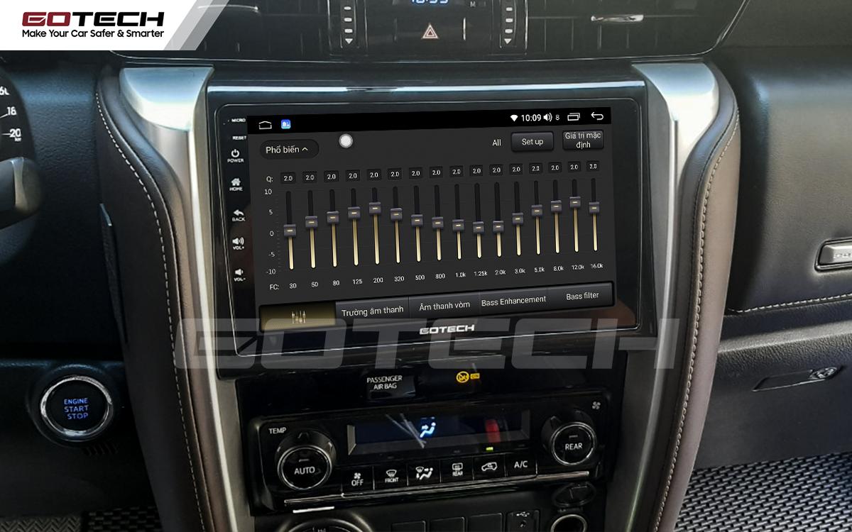Bộ xử lý tín hiệu âm thanh DSP 32 kênh trên màn hình GOTECH cho xe Toyota Fortuner 2017-2020