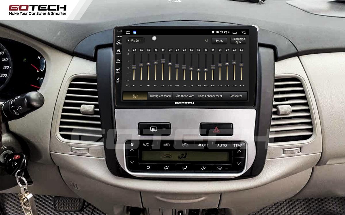 Bộ xử lý tín hiệu âm thanh DSP 32 kênh trên màn hình GOTECH cho xe Toyota Innova 2012-2016