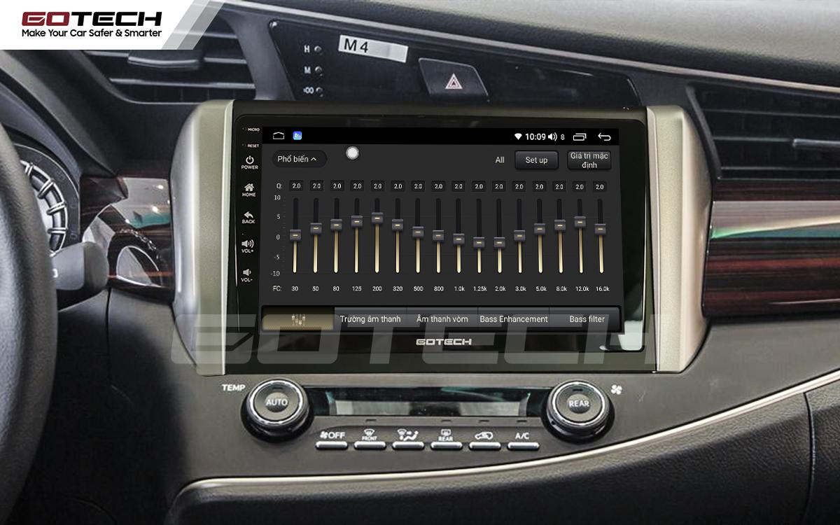 Bộ xử lý tín hiệu âm thanh DSP 32 kênh trên màn hình GOTECH cho xe Toyota Innova 2018-2020