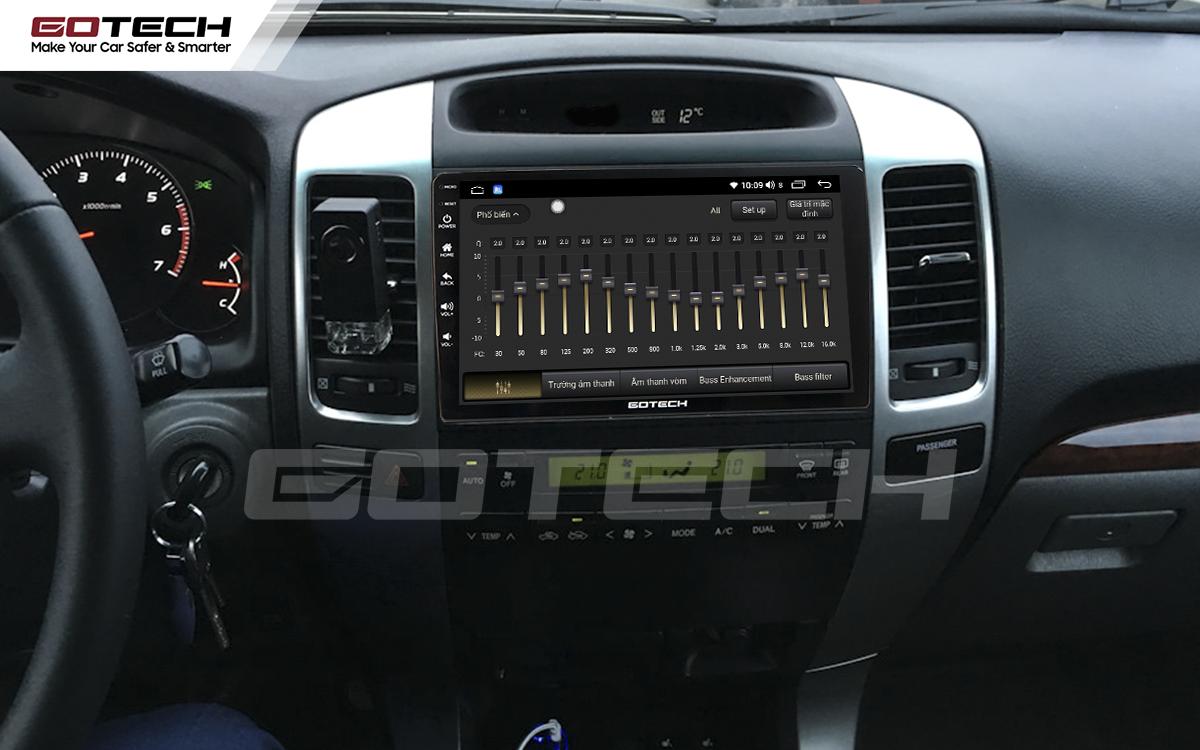 Bộ xử lý tín hiệu âm thanh DSP 32 kênh trên màn hình GOTECH cho xe Toyota Land Cruiser 2003-2007