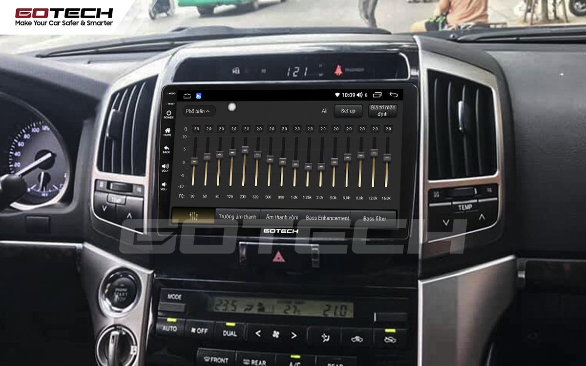 Bộ xử lý tín hiệu âm thanh DSP 32 kênh trên màn hình GOTECH cho xe Toyota Land Cruiser 2008-2015
