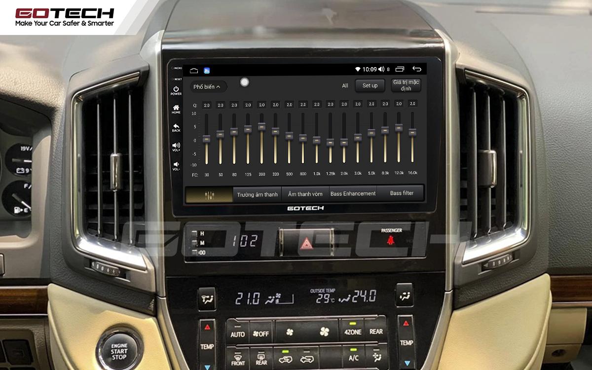 Bộ xử lý tín hiệu âm thanh DSP 32 kênh trên màn hình GOTECH cho xe Toyota Land Cruiser 2016-2019