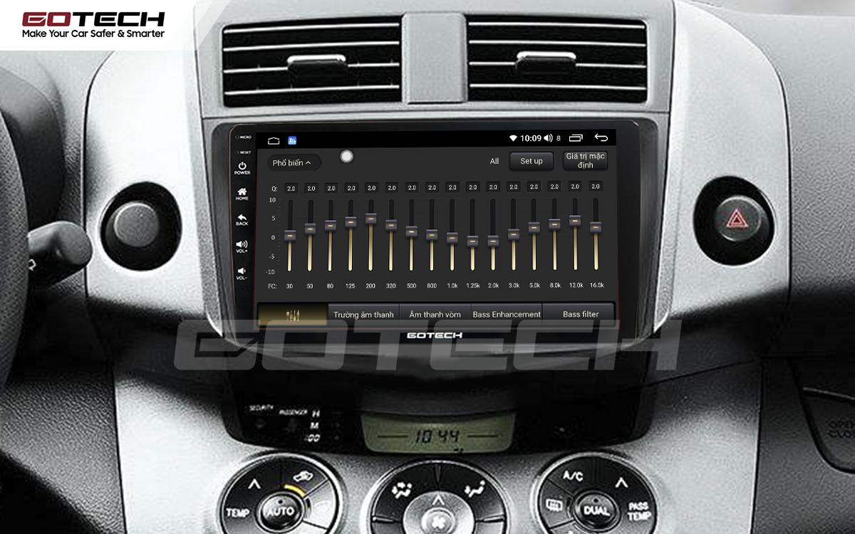 Bộ xử lý tín hiệu âm thanh DSP 32 kênh trên màn hình GOTECH cho xe Toyota Rav4 2006-2011
