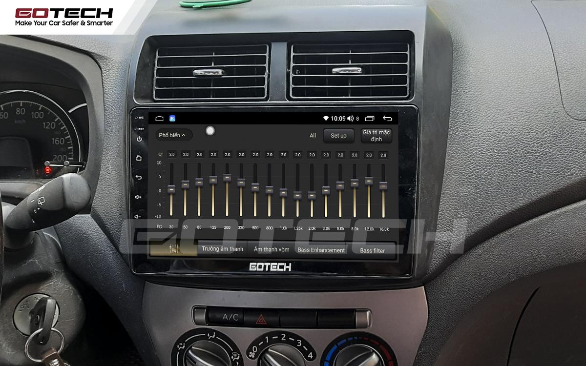Bộ xử lý tín hiệu âm thanh DSP 32 kênh trên màn hình GOTECH cho xe Toyota Wigo 2018-2020
