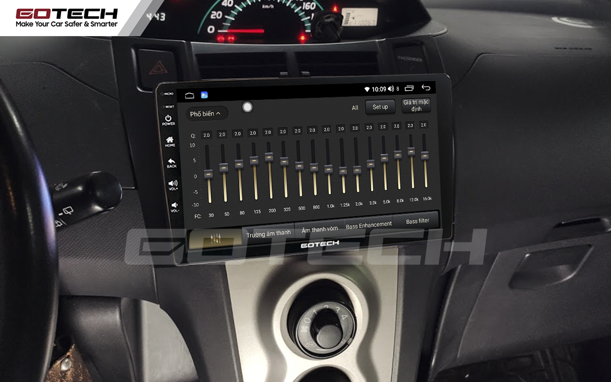 Bộ xử lý tín hiệu âm thanh DSP 32 kênh trên màn hình GOTECH cho xe Toyota Yaris Hatchback 2005-2013
