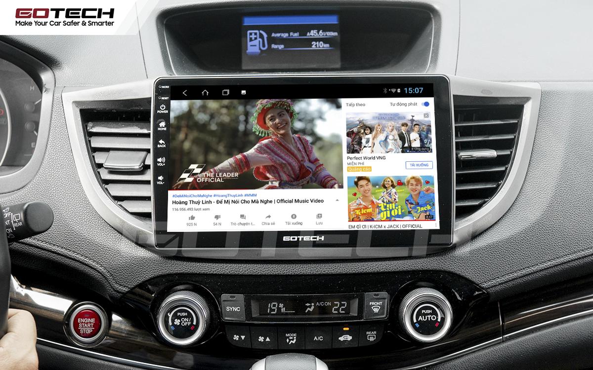 Giải trí vô tận trên màn hình ô tô thông minh GOTECH cho xe Honda CRV