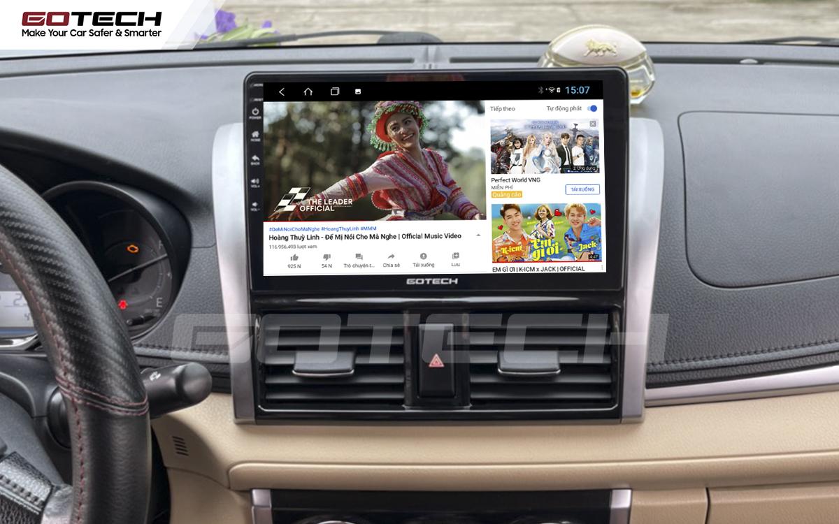 Các ứng dụng giải trí vô tận trên màn hình GOTECH cho xe Toyota Vios 2014 - 2018