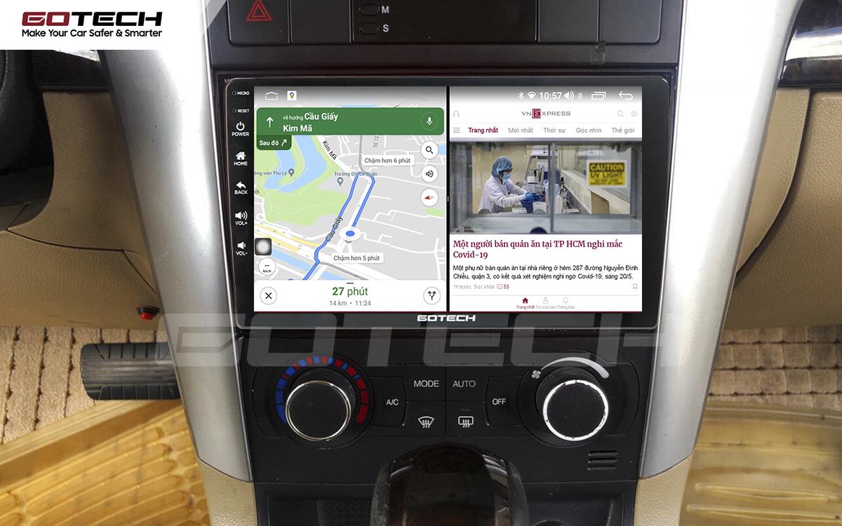 Chạy đa nhiệm ứng dụng mượt mà trên màn hình ô tô GOTECH cho xe Chevrolet Captiva 2013-2015