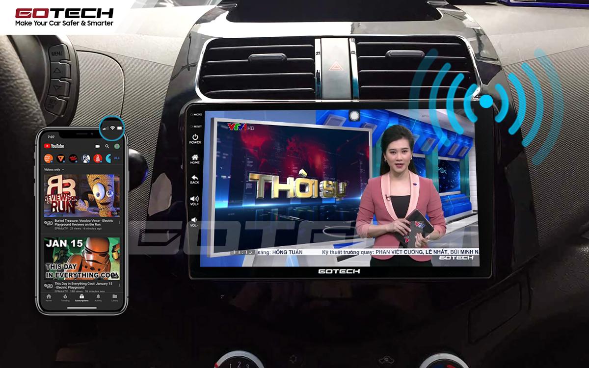 Chia sẻ wifi không cần dùng ổ phát trên màn hình GOTECH cho xe Chevrolet Spark Matiz 2012-2016
