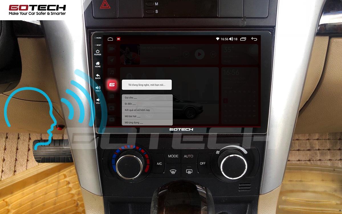 Điều khiển giọng nói qua vô lăng trên màn hình ô tô GOTECH cho xe Chevrolet Captiva 2013-2015